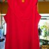 Camiseta em Malha Cavada Decote em V G Vermelha R308