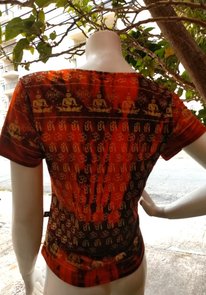 Camiseta Indiana em Malha OM - laranja