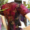 Camiseta Indiana em Malha Arabescos e Borboletas Vinho