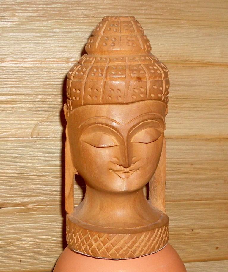 Escultura de Cabeça de Budha