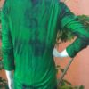 Cardigan Malha com Viscose Tie Dye Mangas longas