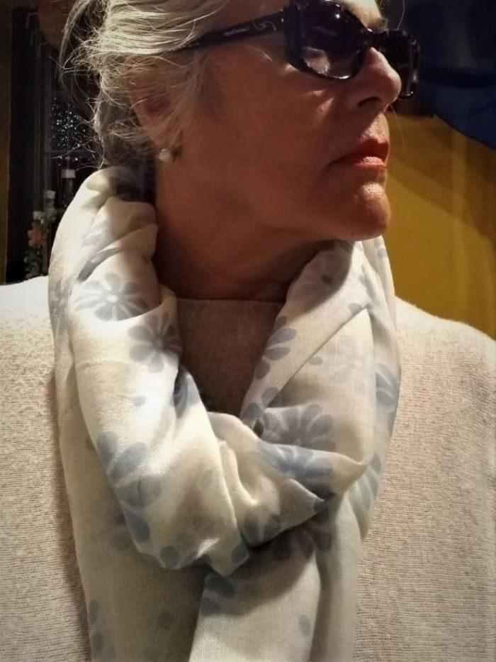 Pashmina em Lã Azul P