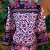 Bata Maya em Algodão com Mangas Longas Rosa