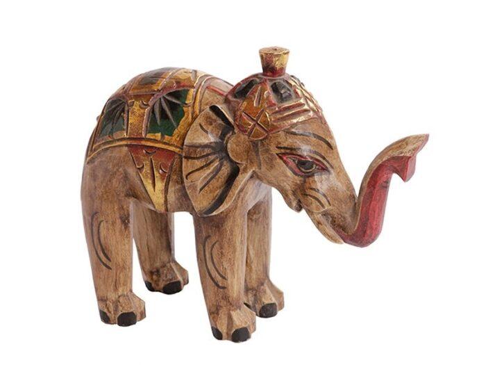 Elefante em Madeira Craquele